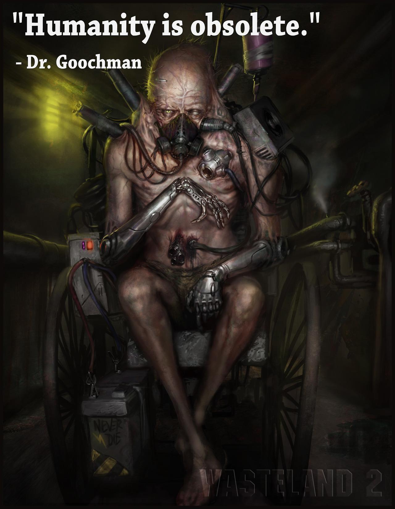 Всю свою пенсию доктор Фриман тратил на импланты и вещества.